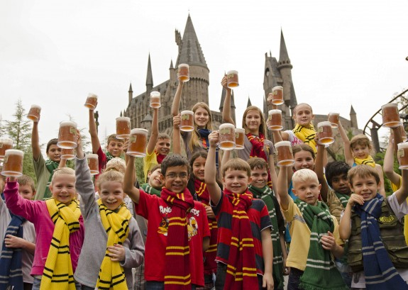Toasting the sale of 5 million butterbeers.