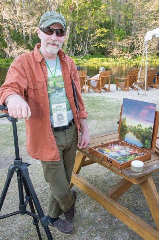 Wekiva Paint Out artist