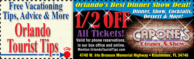 Half off all tickets at Capone's Dinner Show