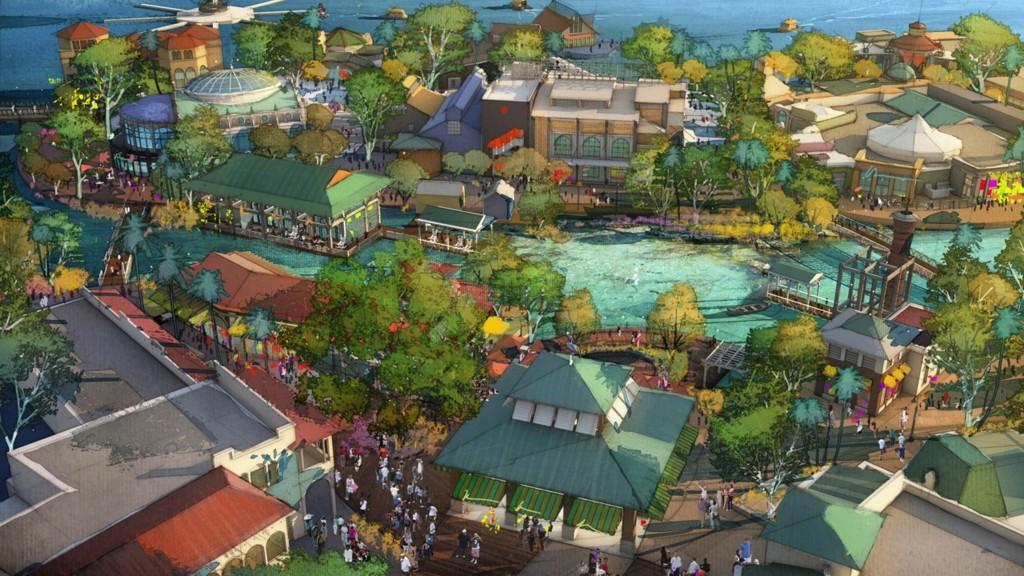 Disney Springs Illustration