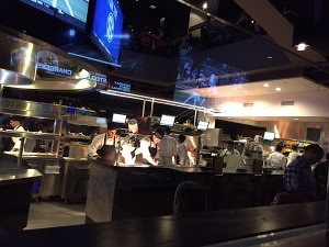 NBC Sports Grill & Brew open kitchen