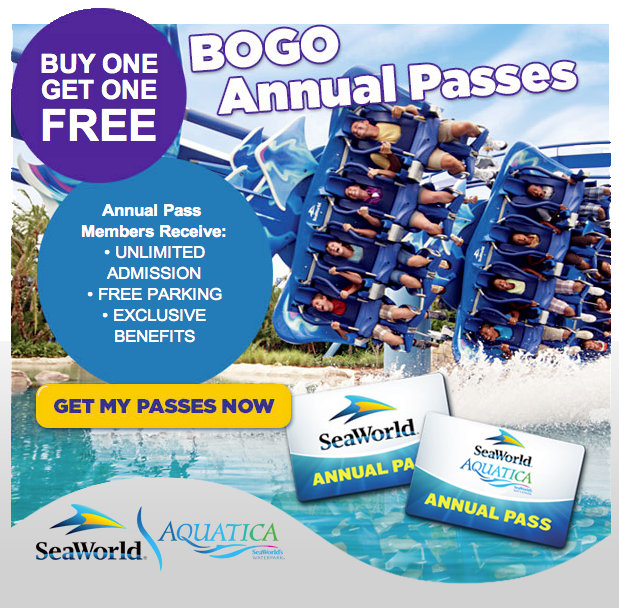 SeaWorld BOGO offer